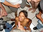 19yo Ebony Cutie Kim in a Porn Theater Public Sex Cum Fest